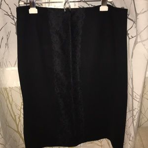 👗 ZARA Sexy Lace Detail Black Skirt